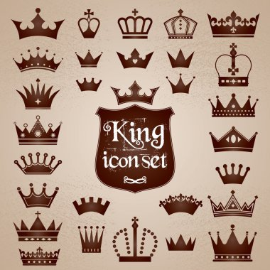 Crowns icons set