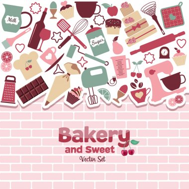Bakery and sweets border