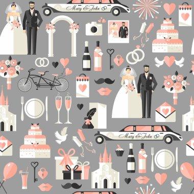 Wedding symbols set.