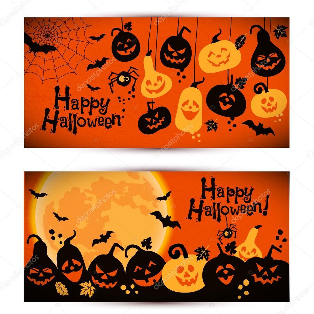 Halloween backgrounds of  pumpkins