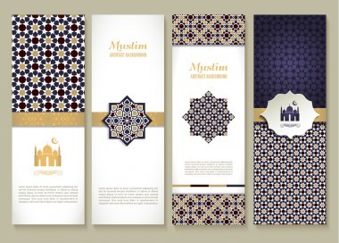 brown Muslim banners set