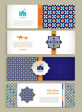 banners set of arabian design