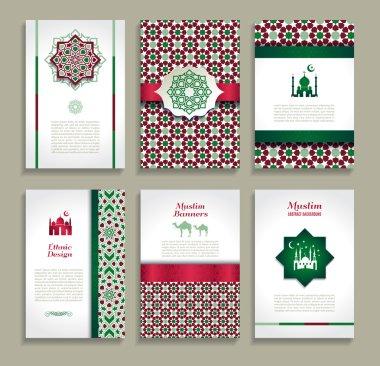 banners set of arabian design