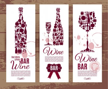 Wine bar menu card