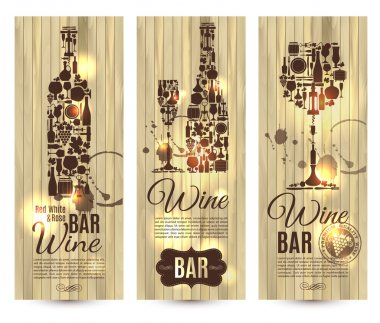 Wine bar menu card