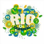 Soubor ikony Karneval Rio