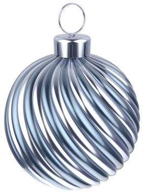 Christmas ball bauble New Years Eve decoration silver