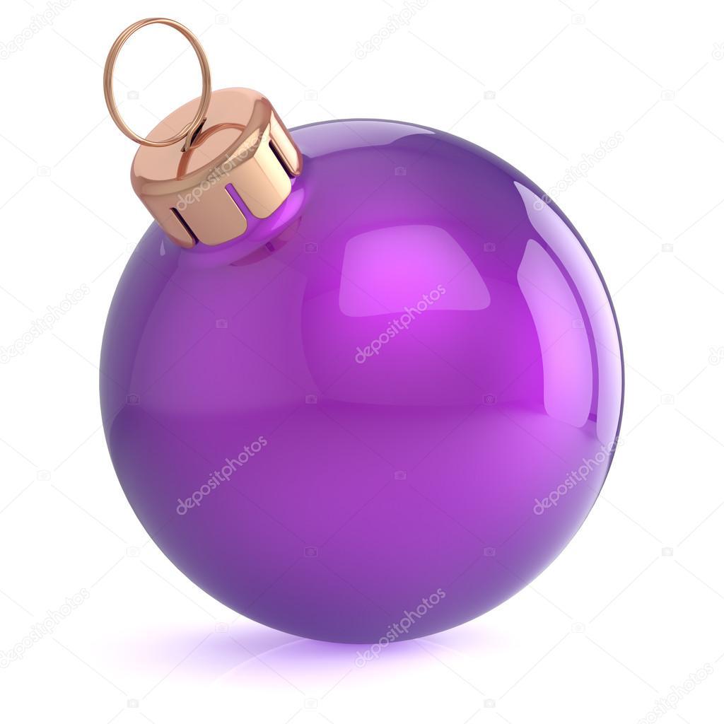 Boule de Noël décoration d\'ornement New Years Eve violette ...