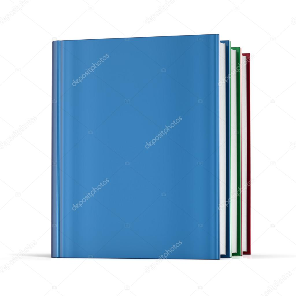 Books blank cover no labels template textbook — Stock Photo ...