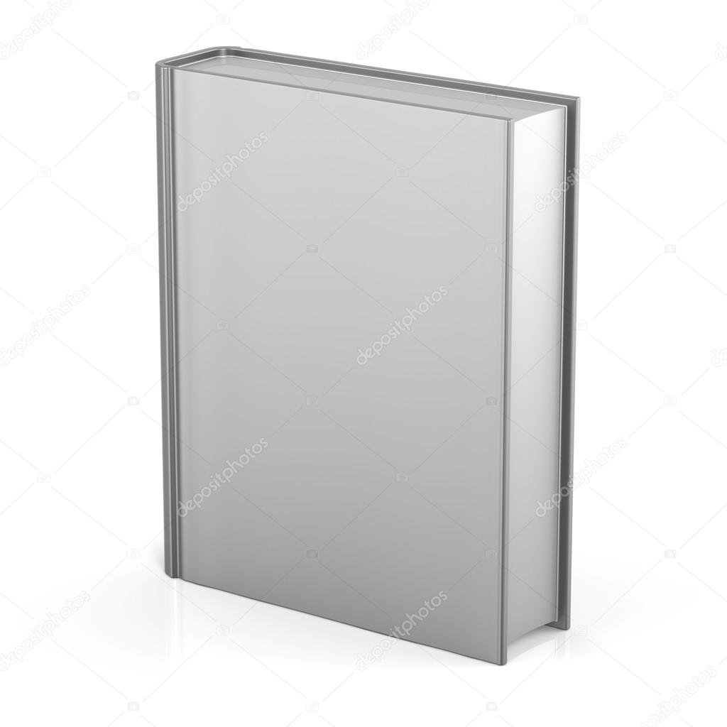 blank book empty cover template single brochure document stock