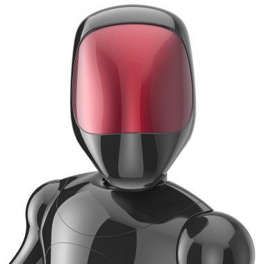 Bot robot cyborg android futuristic artificial character black