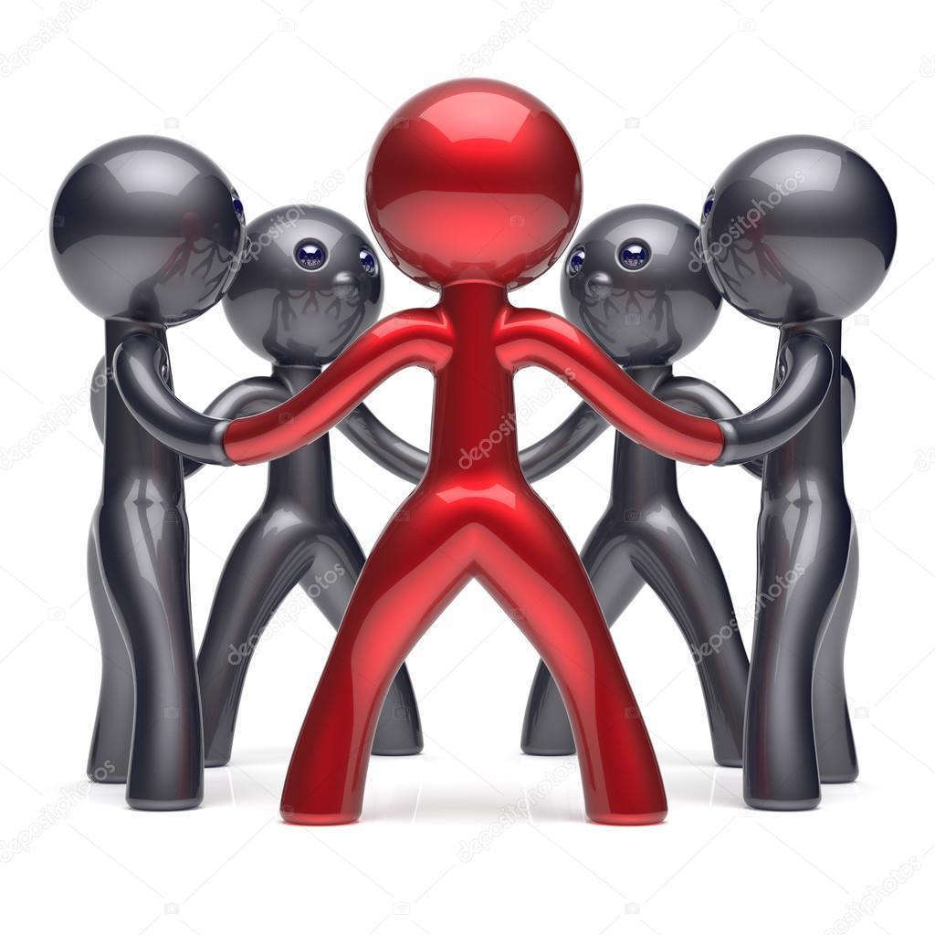 Leadership teamwork circle people social network team