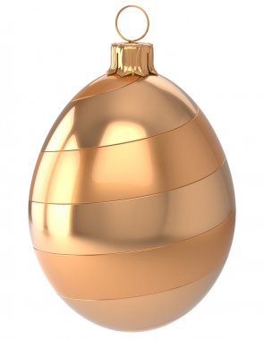 Christmas ball egg New Year's Eve bauble decoration golden