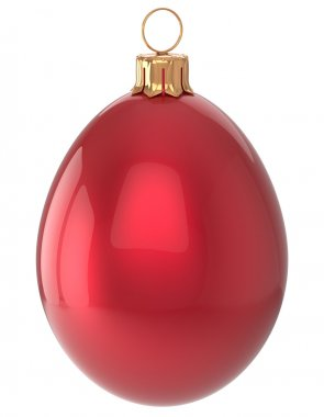 Christmas ball egg New Year's Eve bauble red decoration