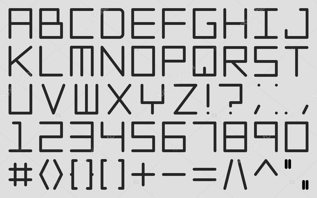 engels alfabet in digitale stijl — stockvector © sheunw #119580696