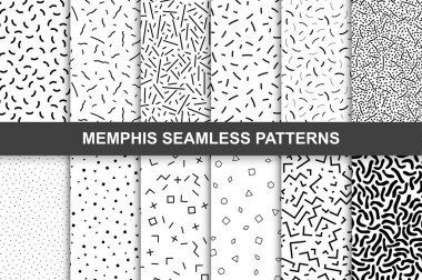 Collection of swatches memphis patterns