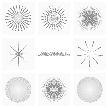 Abstract dot shapes, vector set of design element