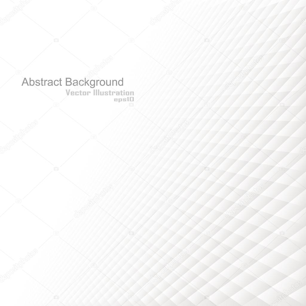 Abstract background with a perspective, white texture. Vector illustration