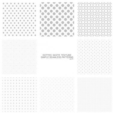 Set of simple seamless dot backgrounds, vector patterns for your design