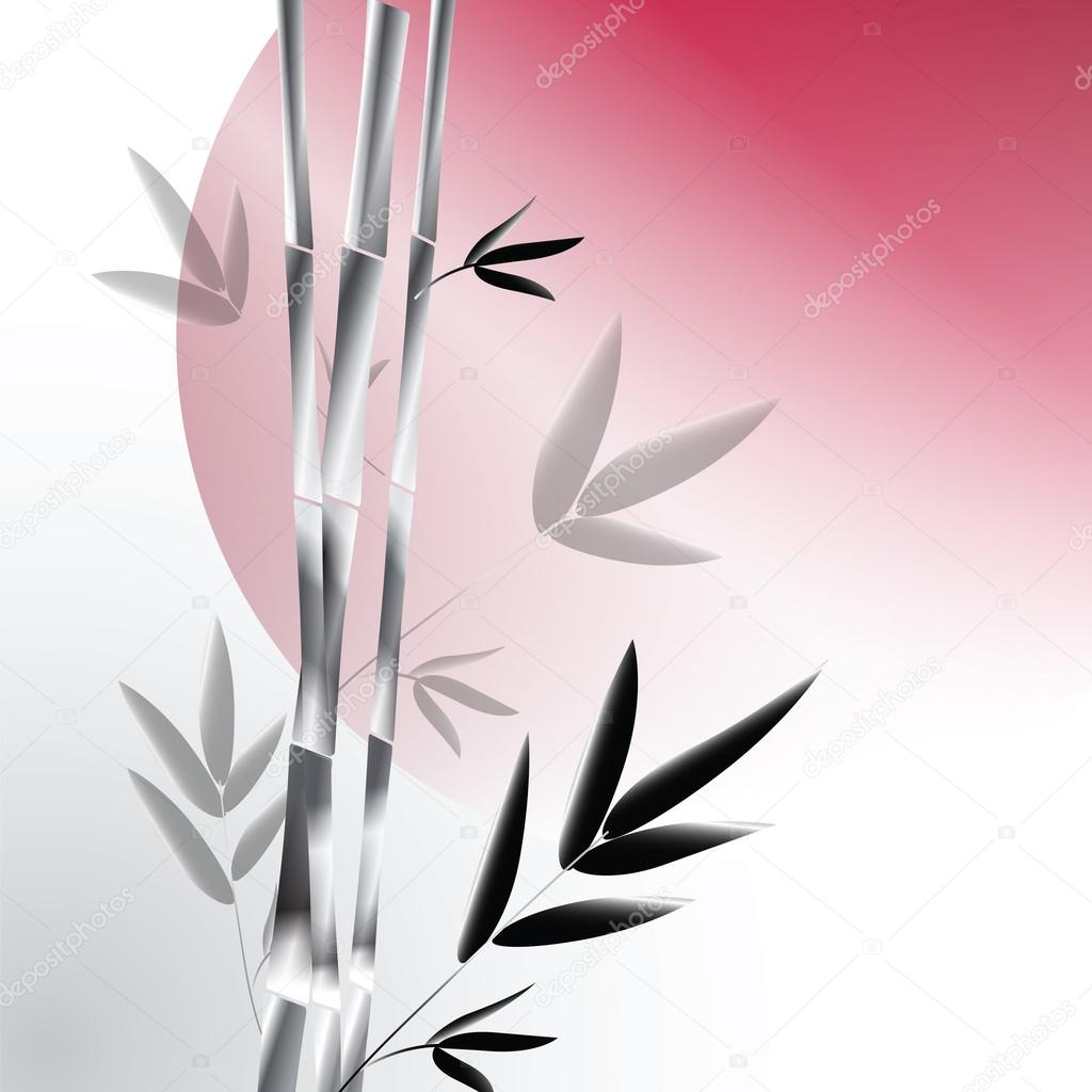 Vector background with gray bamboo