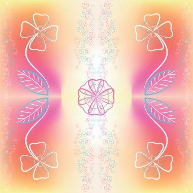 Abstract graphic buttercup flowers
