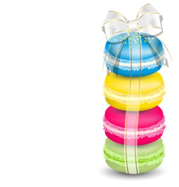Macaroons and ribbon