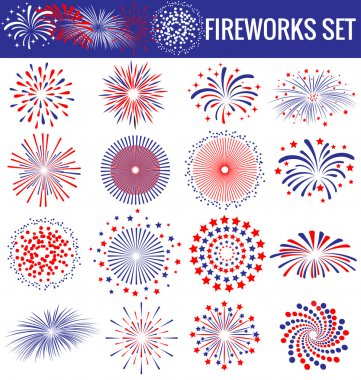 Beautiful Fireworks for Independence Day USA
