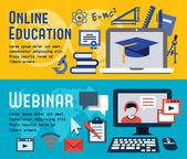 Fotografie Banner für online-Bildung