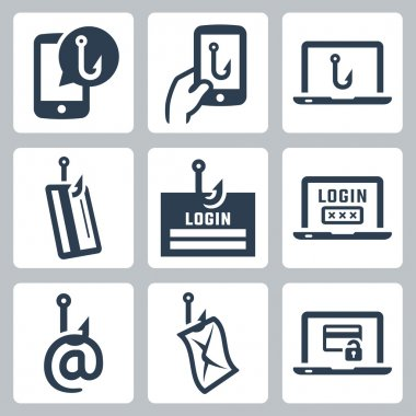 Phishing icon set