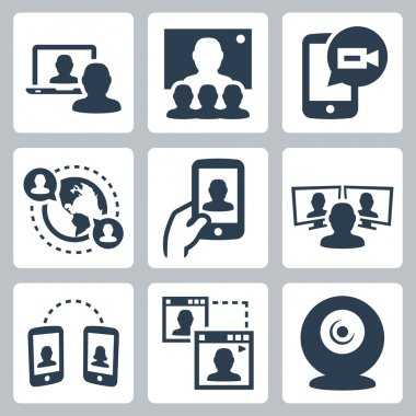 Video conference icons