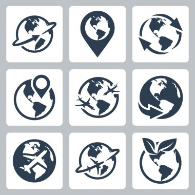 World globe icons