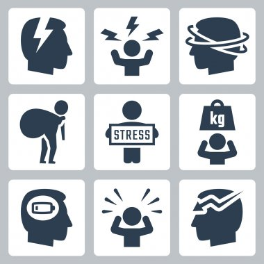 Stress and depression icons