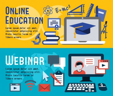 Banners for online education