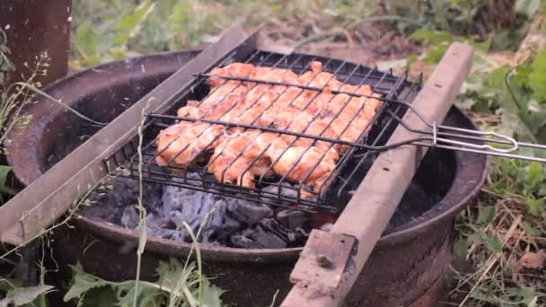 Plátky masa kuřecí smažený na uhlí gril