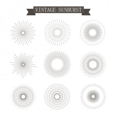 sunburst vintage icons