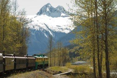 SKAGWAY, ALASKA, USA - MAY 14 - Scenic Railroad on White Pass an