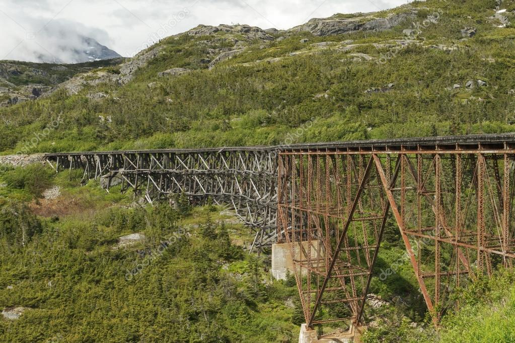The White Pass and Yukon Route Railroad Bridge.