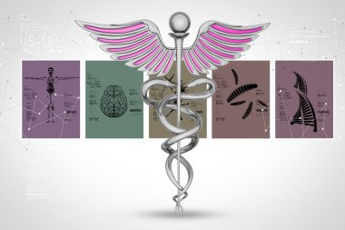 Medical symbol and cards