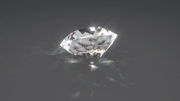 Schöne glänzende funkelnde Diamant-Kristall rotiert reflektierendes Licht - 4K Seamless Loop Motion Hintergrundanimation