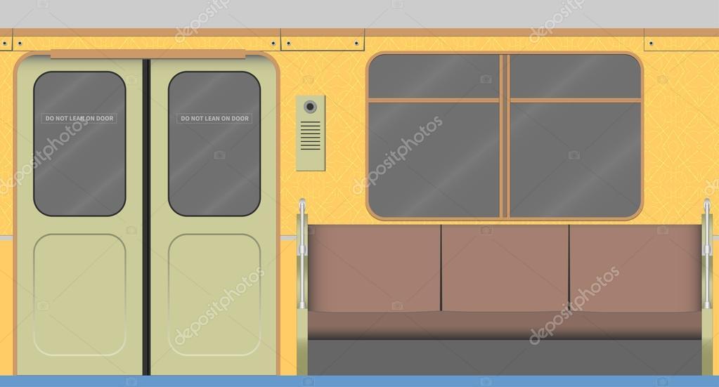 old subway car interior stock vector pulsmusic79 87523636. Black Bedroom Furniture Sets. Home Design Ideas