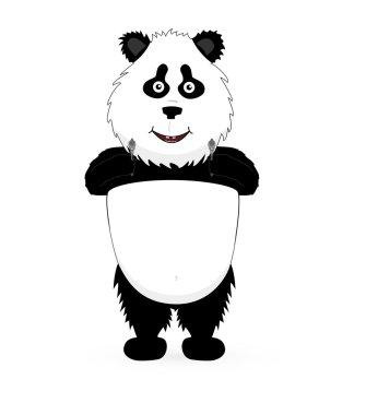 Panda holding a guns