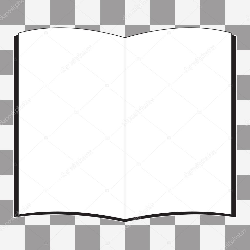 Icone De Livre Blanc De Vecteur Image Vectorielle Zozu