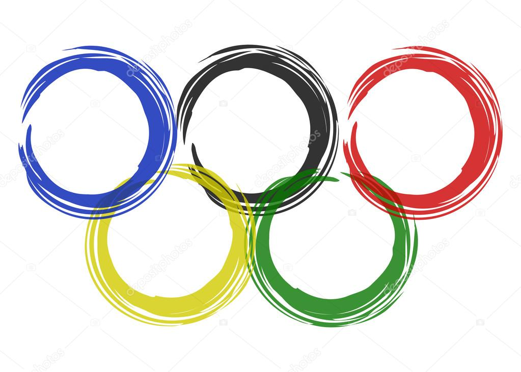 vector image olympic rings from colored brush stock vector zozu rh depositphotos com olympic rings vector free olympic rings vector eps