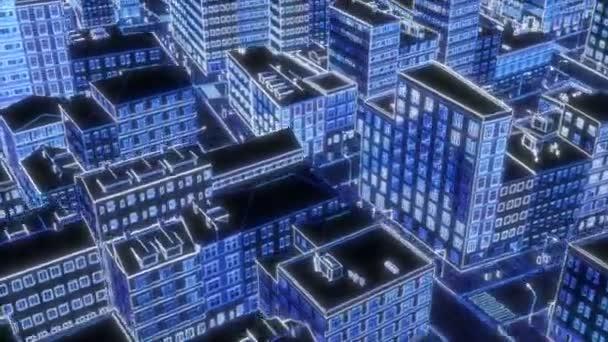 Neon kresba město Městská krajina silueta Záře světelný efekt City panorama Megalopolis cityscape