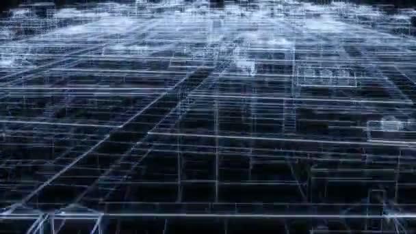 Kreslení neonu města Moderní design Kresba čáry Obchodní design