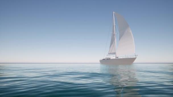 Vitorlás csónak nyugodt vizen Életmód tervezéshez Nyári táj