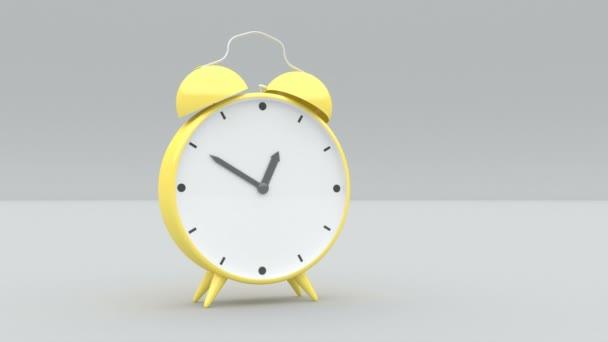 Barevný trend žluté hodiny na šedých zádech Minimal idea concept 3d mockup stylový vzorek minimalistický cover záběry