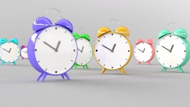 3D styl Trendy barva budíku hodiny obchodní koncept