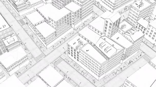 Moderne Linie zeichnen Stadt Stadtbild Skyline Urbane Architektur Hintergrund