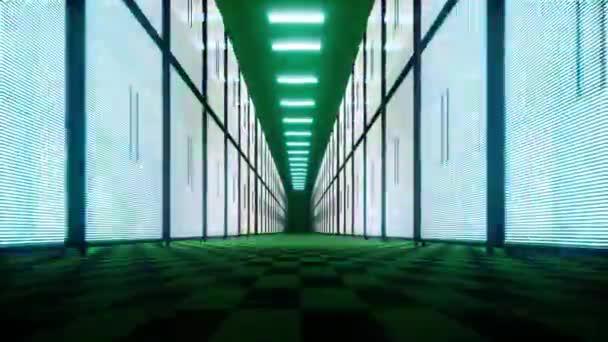Rechenzentrum oder ISP iot High-Tech-Hintergrund Connection Web-Konzept Big Data Storage Moderne Geräte